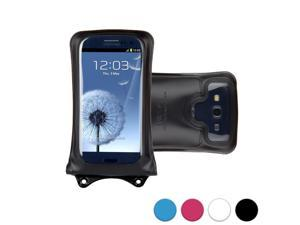 """DiCAPac WP-C1 Universal Waterproof Case for 4.5-5"""" Smartphones in Black (Double Velcro Locking System&#59; IPX8 Certified Underwater Protection&#59; Super Clear Photo Lens)"""