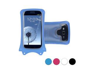 """DiCAPac WP-C1 Universal Waterproof Case for 4.5-5"""" Smartphones in Blue (Double Velcro Locking System&#59; IPX8 Certified Underwater Protection&#59; Super Clear Photo Lens)"""