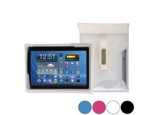 """DiCAPac WP-T20 Universal Waterproof Case for 9"""", 10"""" & 10.1"""" Tablets in White (Double Velcro Locking System&#59; IPX8 Certified Underwater Protection&#59; Super Clear Photo Lens)"""