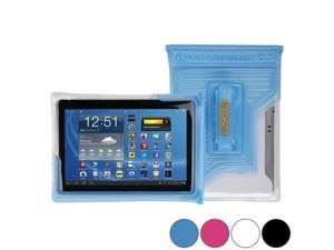 """DiCAPac WP-T20 Universal Waterproof Case for 9"""", 10"""" & 10.1"""" Tablets in Blue (Double Velcro Locking System&#59; IPX8 Certified Underwater Protection&#59; Super Clear Photo Lens)"""