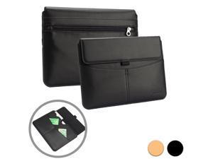 "Cooper Cases(TM) Envelope Universal 9"" - 10.1"" Tablet Business-Style Portfolio Sleeve in Black w/ Built-in Card Slot, Stylus/Pen Holder & Pocket Features"