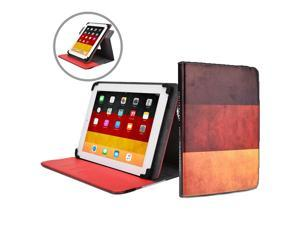 """Cooper Cases(TM) Patriot Universal 9-10"""" Tablet Folio w/ Germany Flag Pattern (Universal fit, 360-Degree Rotating Stand, Elastic Strap Closure)"""