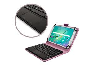 """Cooper Cases(TM) Touchpad Executive Universal 7-8"""" Tablet Bluetooth Keyboard Folio in Purple"""