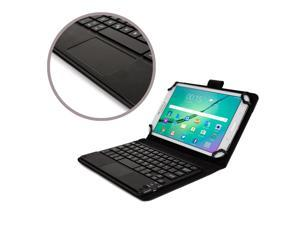 """Cooper Cases(TM) Touchpad Executive Universal 7-8"""" Tablet Bluetooth Keyboard Folio in Black"""