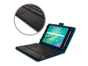 "Cooper Cases(TM) Touchpad Executive Universal 8"" Tablet Bluetooth Keyboard Folio in Blue (Removable QWERTY Keyboard&#59; Built-in Stand&#59; Rechargeable Battery)"