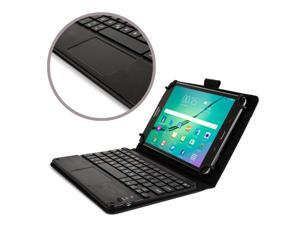"Cooper Cases(TM) Touchpad Executive Universal 8"" Tablet Bluetooth Keyboard Folio in Black (Removable QWERTY Keyboard&#59; Built-in Stand&#59; Rechargeable Battery)"