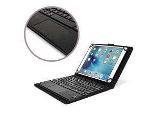 """Cooper Cases(TM) Touchpad Executive Universal 9-10.5"""" Tablet Bluetooth Keyboard Folio in Black (Removable QWERTY Keyboard&#59; Built-in Stand&#59; Rechargeable Battery)"""
