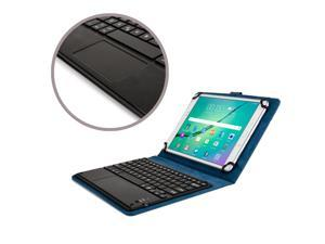 """Cooper Cases(TM) Touchpad Executive Universal 9-10.5"""" Tablet Bluetooth Keyboard Folio in Blue (Removable QWERTY Keyboard&#59; Built-in Stand&#59; Rechargeable Battery)"""