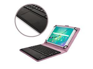 """Cooper Cases(TM) Touchpad Executive Universal 9-10.5"""" Tablet Bluetooth Keyboard Folio in Purple (Removable QWERTY Keyboard&#59; Built-in Stand&#59; Rechargeable Battery)"""