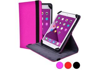 "Cooper Cases (TM) Infinite S360 Universal 9"" - 10.1"" Tablet Folio Case in Magenta (Universal Fit, 360-Degree Rotating Stand Feature, Synthetic Cover, Elastic Strap Closure)"