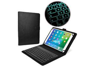 "Cooper Cases(TM) Backlight Executive Universal 9"" - 10"" inch Tablet Bluetooth Keyboard Folio in Black (PU Leather, Removable Keyboard w/ LED Backlight&#59; Display Stand)"