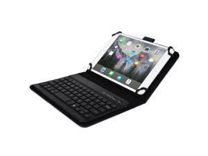 """Cooper Cases(TM) Backlight Executive Universal 7"""" - 8"""" inch Tablet Bluetooth Keyboard Folio in Blue (Faux Leather Cover, QWERTY LED Backlit Keyboard&#59; Built-in Stand)"""