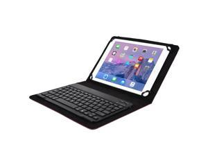 """Cooper Cases(TM) Backlight Executive Universal 9"""" - 10"""" inch Tablet Bluetooth Keyboard Folio in Purple (PU Leather, Removable Keyboard w/ LED Backlight&#59; Display Stand)"""