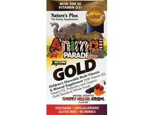 Nature's Plus Animal Parade Gold Multi-Vitamins Assort 60 Chwbls
