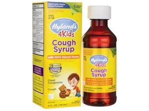 Hyland's Cough Syrup with 100% Natural Honey 4 Ki 4 fl oz (118 ml) Liquid