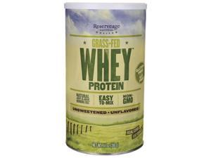 Reserveage Organics Grass-Fed Whey Protein Unsweetened Unfla 11.1 oz (316 grams) Pwdr