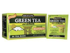 Bigelow Tea Green Tea with Lemon Decaffeinated 20 Bag(S)