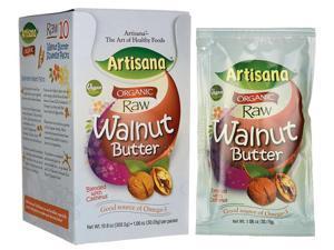 Artisana Organic Raw Walnut Nut Butter with Cashe 10/1.06 oz (30.06 grams) Pkts