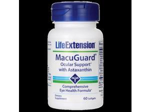 Life Extension Macuguard Ocular Support with Astaxanthi 60 Sgels