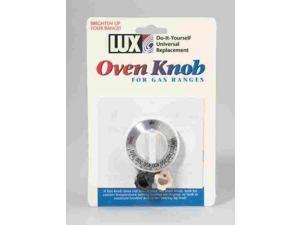 Lux Replacement Oven Knob Universal - Fits Most Gas Ovens White