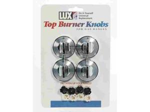 Lux Replacement Top Burner Knobs Universal - Gas Ranges Chrome Card Of 4
