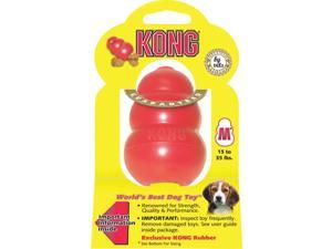 Kong Company T2MTXR1 Classic Kong Rubber Dog Toy-MEDIUM RED KONG DOG TOY