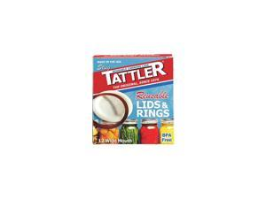 Tattler Mason Jar Lids & Rings - Reusable - Wide