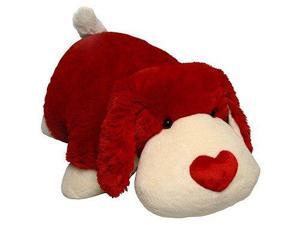 """My Pillow Pets Luv Pup 18"""" Large (Red and white)"""