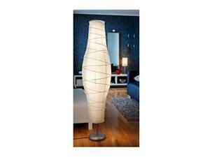Ikea 802.135.97 Dudero Floor Lamp, Silver-Color/White