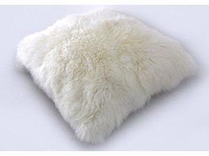 "Ikea Skold 20 X 20"" Cushion Throw Pillow Cover Sheepskin Fur Wool"