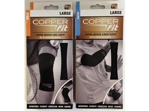 Copper Fit Knee and Elbow Sleeves Large Combo
