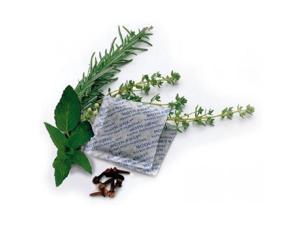 Moth Away Sachets - Nontoxic - 72 Pack (White) (6 sets of 12 Sachets) - Fresh mint scent