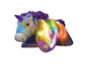 """Pillow Pets® Glow Pets Rainbow Unicorn 16"""""""
