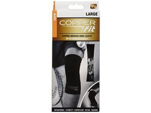 Set of 2 Copper Fit Copper Infused Knee Sleeves - Large