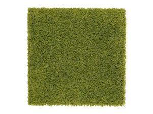 IKEA HAMPEN - Rug, high pile, bright green - 80x80 cm