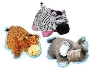 Pillow Pets Pee-Wees Plush Stuffed Animal Toy Jungle Super Set Bundle (3)