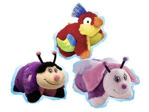 Pillow Pets Pee-Wees Plush Stuffed Animal Toy Rainforest Super Set Bundle (3)