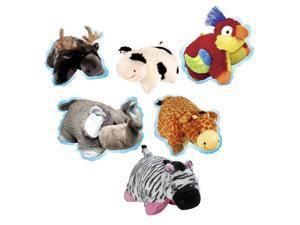 Pillow Pets Pee-Wees Plush Stuffed Animal Toy Petting Zoo Super Set Bundle (6)