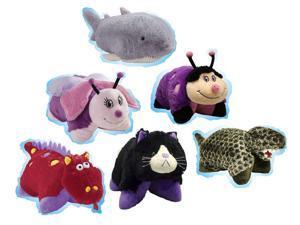 Pillow Pets Pee-Wees Plush Stuffed Animal Toy Wild Time Zoo Super Set Bundle (6)