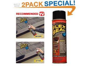 Flex Seal 10-Ounce As Seen on TV Liquid Rubber Sealant in a Can, Black (2 Pack)