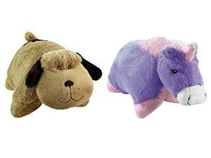 Pillow Pets Pee Wee Dog and Unicorn Bundle (2 Pack)