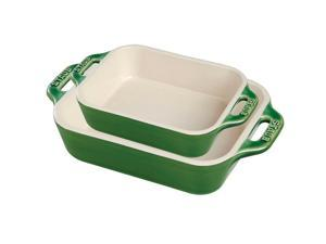 Staub Ceramic 2-pc Rectangular Baking Dish Set - Basil