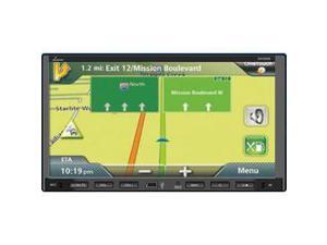7'' Video Headunit Receiver, GPS Navigation, Bluetooth Wireless Streaming, CD/DVD Player, Touch Screen, Motorized, Double DIN