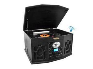 Bluetooth Retro Vintage Classic Style Turntable Vinyl Record Player with Vinyl-to-MP3 Recording