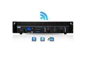 Bluetooth Bridgeable Power Amplifier, MP3/USB/SD, Aux Input, 1000 Watt Amp, Rack Mountable