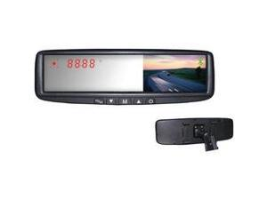 "BOYO VTB45M 4.3"" Digital TFT LCD Mirror Monitor with Dual-Mounting Solution, Bluetooth(R), FM Transmitter & Compass"