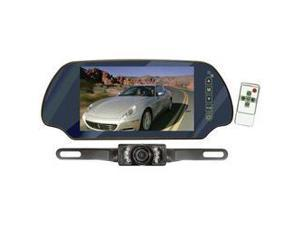"PYLE PLCM7200 7"" TFT Mirror Monitor/Backup Night Vision Camera Kit (Without Bluetooth(R))"