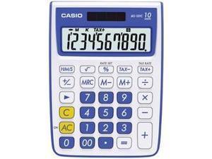 CASIO MS-10VC-BE 10-Digit Calculator (Blue)