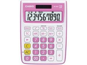 CASIO MS-10VC-PK 10-Digit Calculator (Pink)