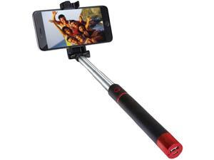Supersonic SC-1620SBT RED Pocket-Pro Selfie Action Stick with Bluetooth(R)&#59;& Rechargeable Battery (Red)